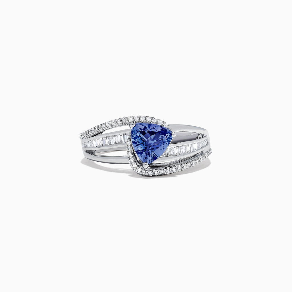 Effy Tanzanite Royale 14K White Gold Tanzanite and Diamond Ring, 1.66 TCW