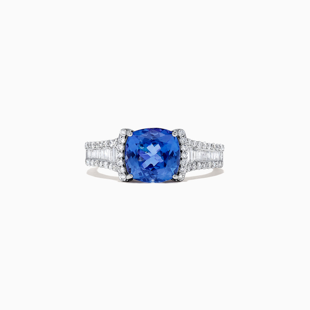 Effy Tanzanite Royale 14K White Gold Tanzanite and Diamond Ring, 2.18 TCW