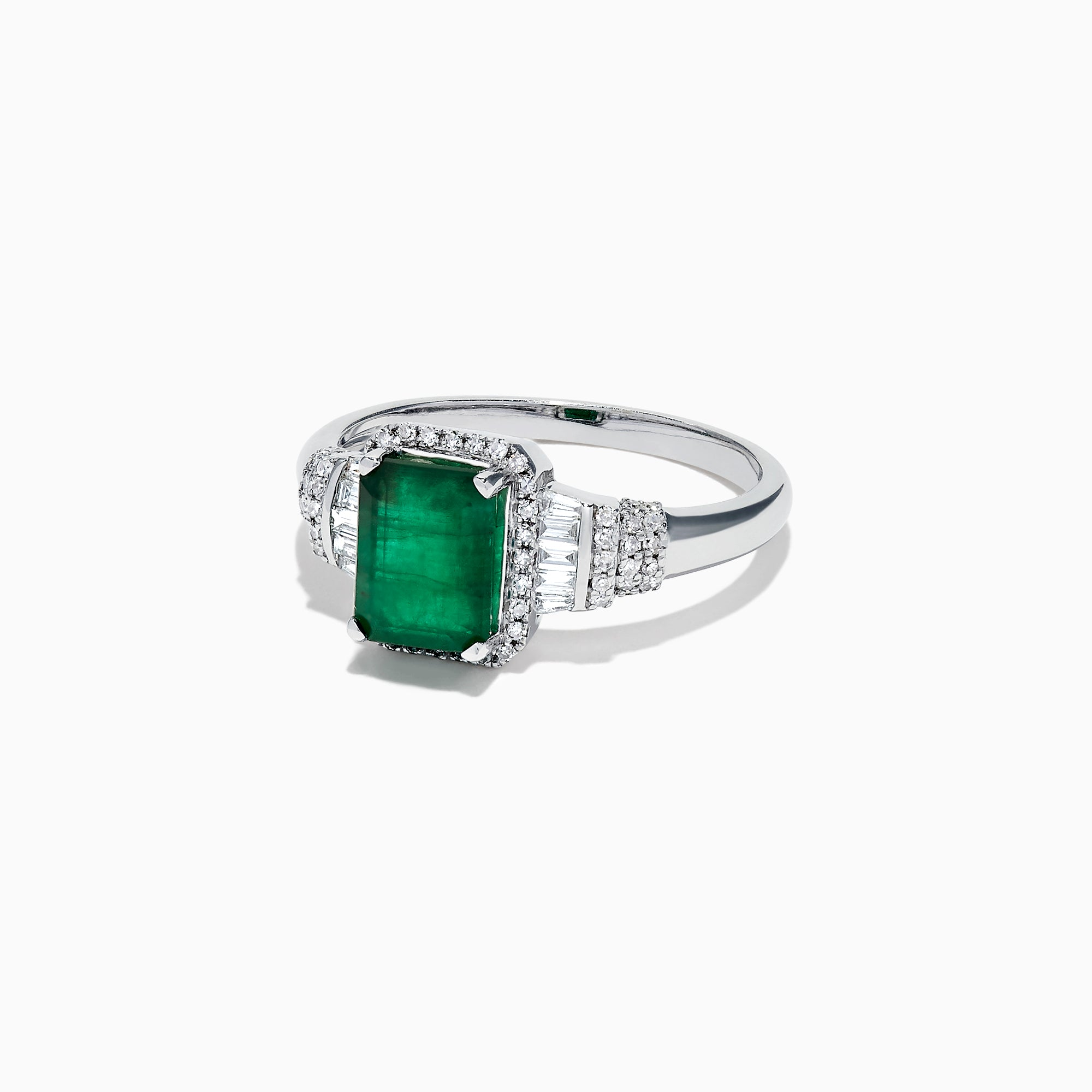 Effy Brasilica 14K White Gold Emerald and Diamond Ring, 1.73 TCW