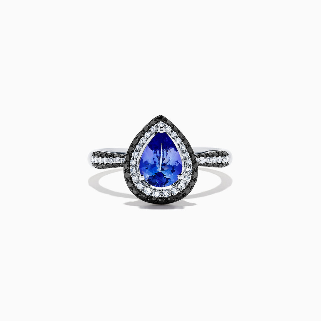 Effy Tanzanite Royale 14K White Gold Tanzanite and Diamond Ring, 1.43 TCW