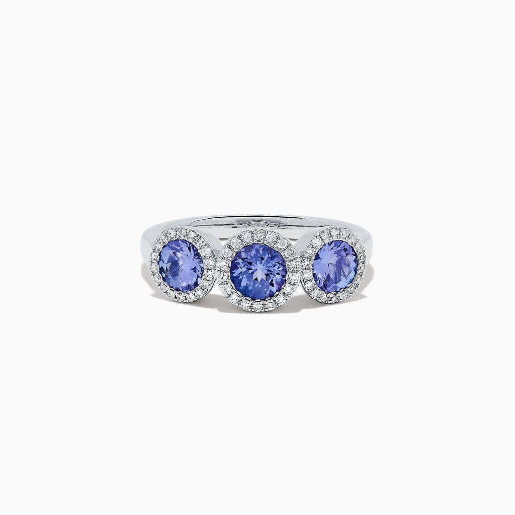 Effy 14K White Gold Tanzanite and Diamond Ring, 1.51 TCW