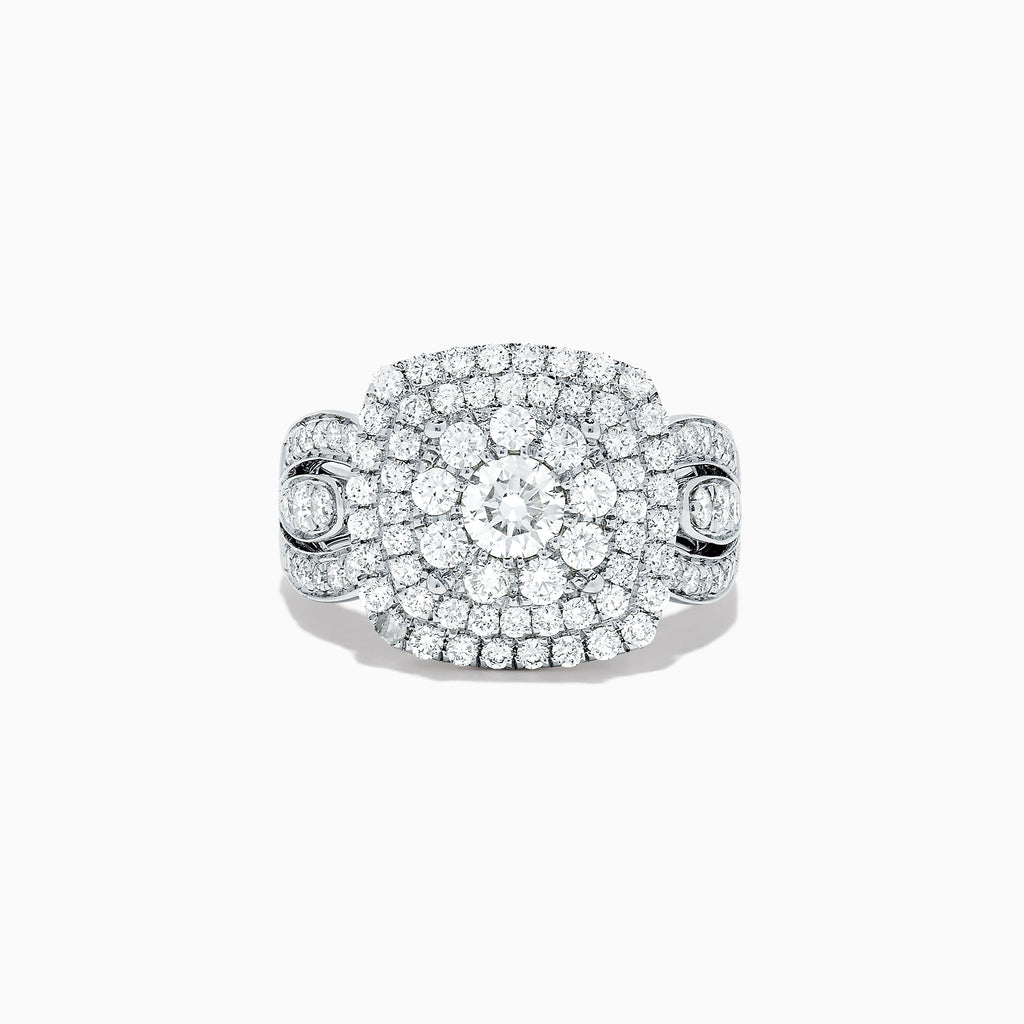 Effy Pave Classica 14K White Gold Diamond Cluster Ring, 1.85 TCW