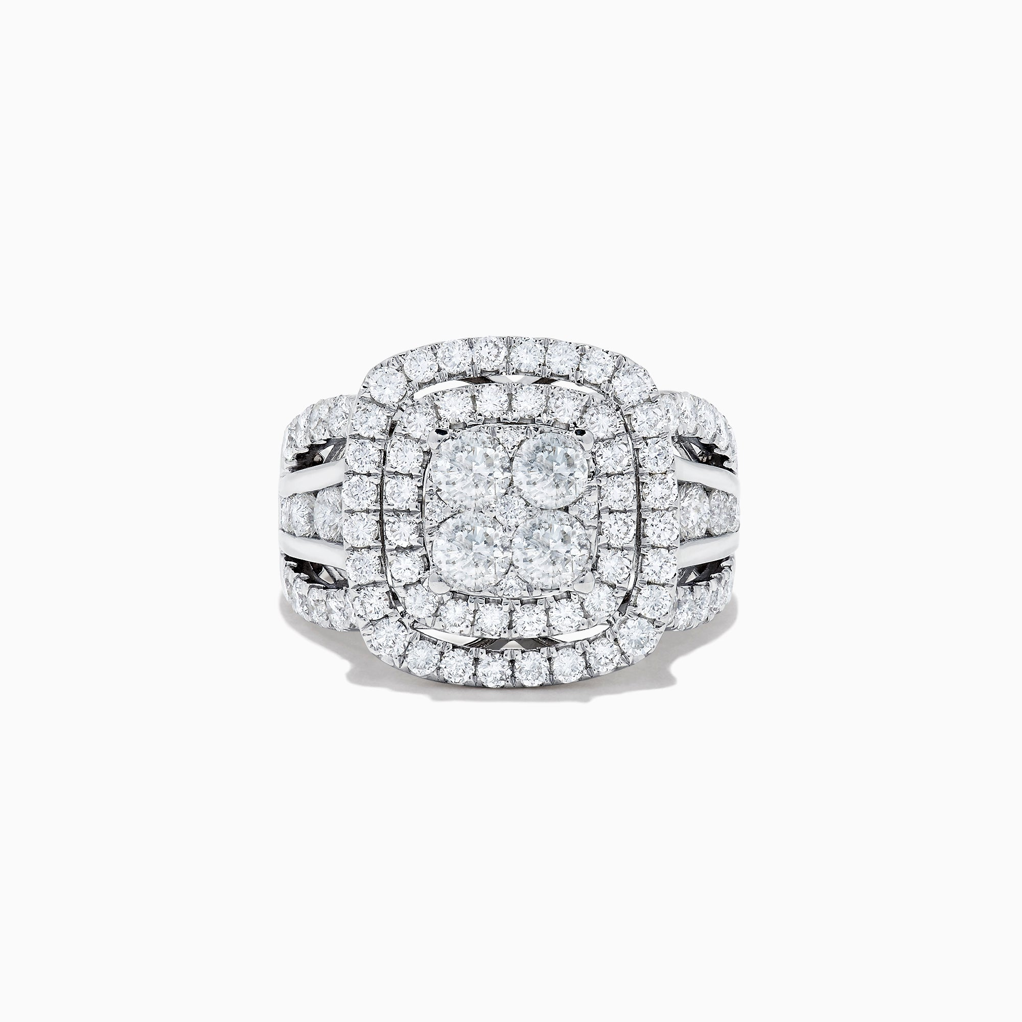 Effy Pave Classica 14K White Gold Diamond Ring, 2.65 TCW