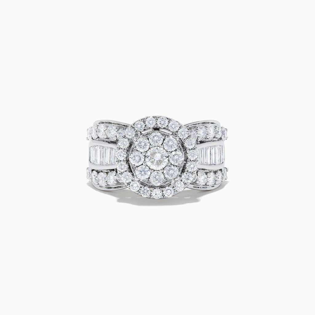 Effy Bouquet 14K White Gold Diamond Cluster Ring, 2.51 TCW