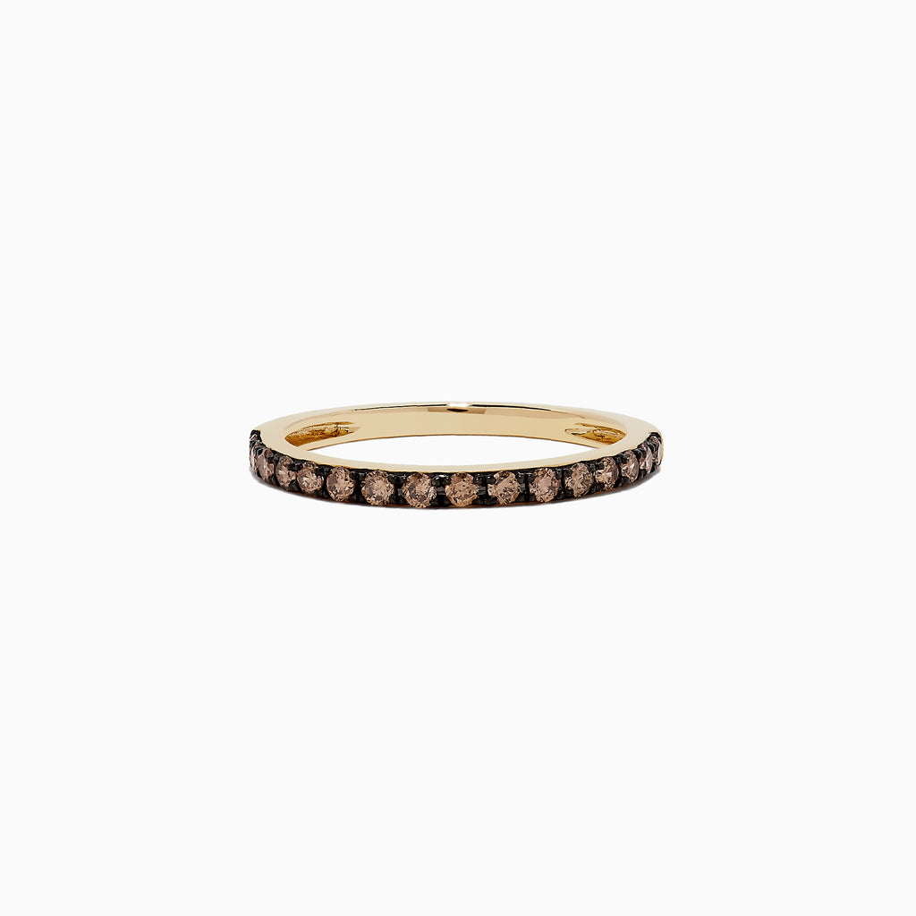 Effy 14K Yellow Gold Espresso Diamond Band, 0.34 TCW