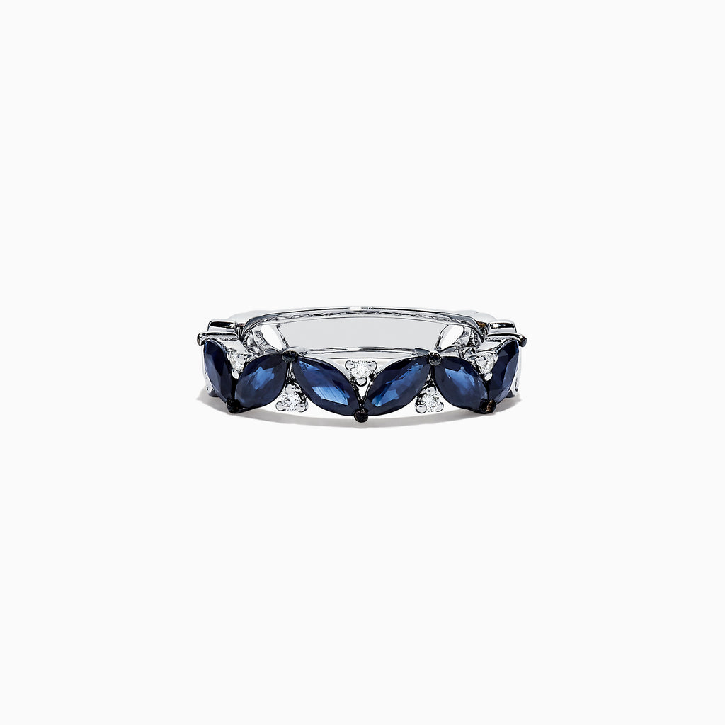 Effy Royale Bleu 14K White Gold Sapphire and Diamond Ring, 2.04 TCW