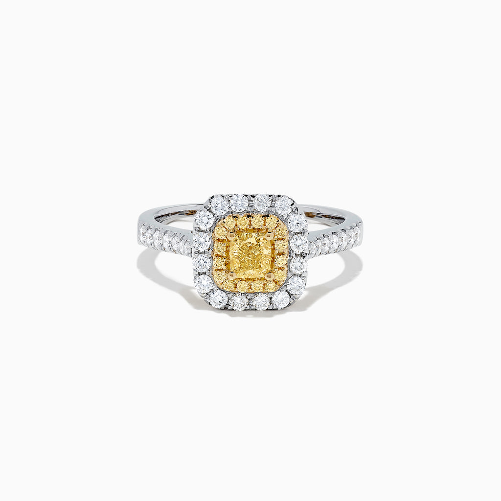 Effy Canare 18K Two Tone Gold Yellow and White Diamond Ring, 0.97 TCW
