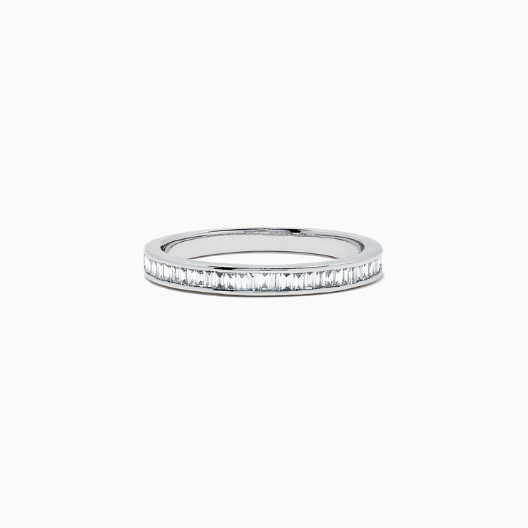 Effy Classique 14K White Gold Channel Set Diamond Band, 0.44 TCW