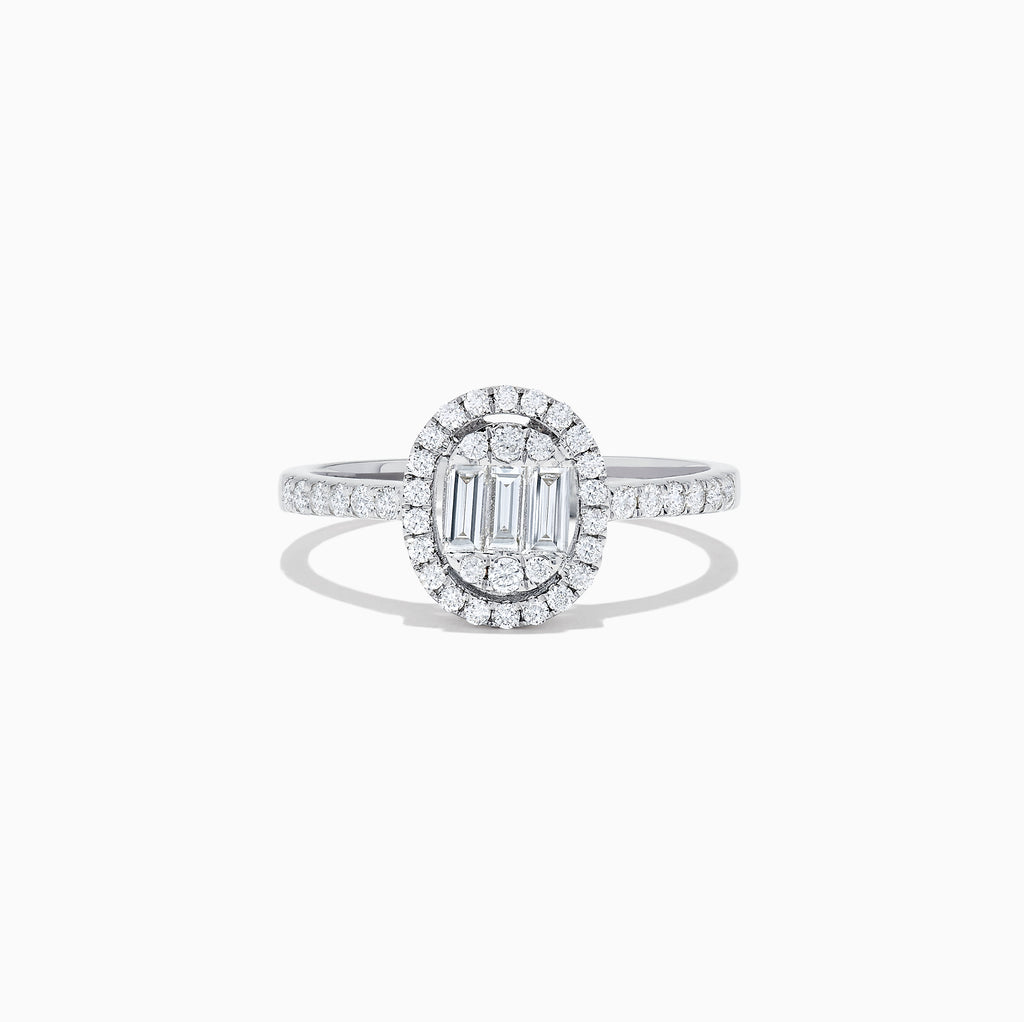 Effy Classique 14K White Gold Diamond Ring, 0.58 TCW