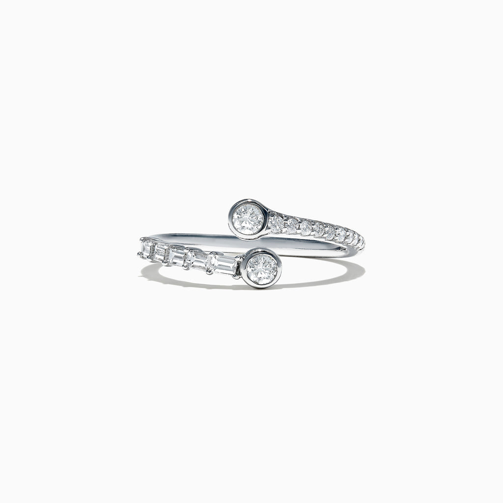 Effy Classique 14K White Gold Two-of-Us Diamond Ring, 0.46 TCW