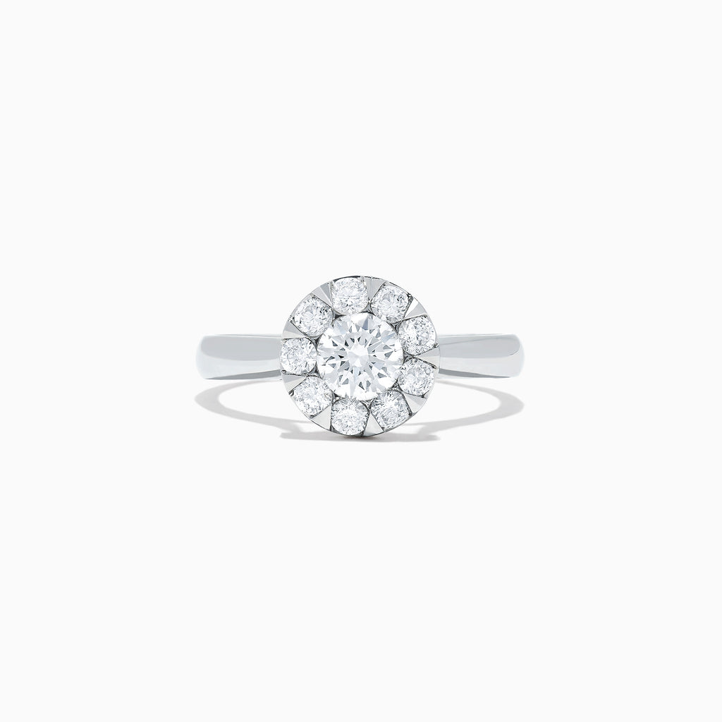 Effy Bouquet 14K White Gold Diamond Cluster Ring, 0.98 TCW