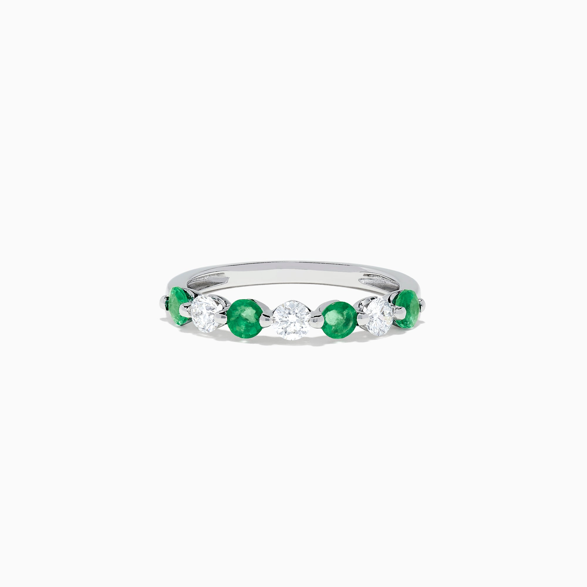 Effy Brasilica 14K White Gold Emerald and Diamond Ring, 0.81 TCW