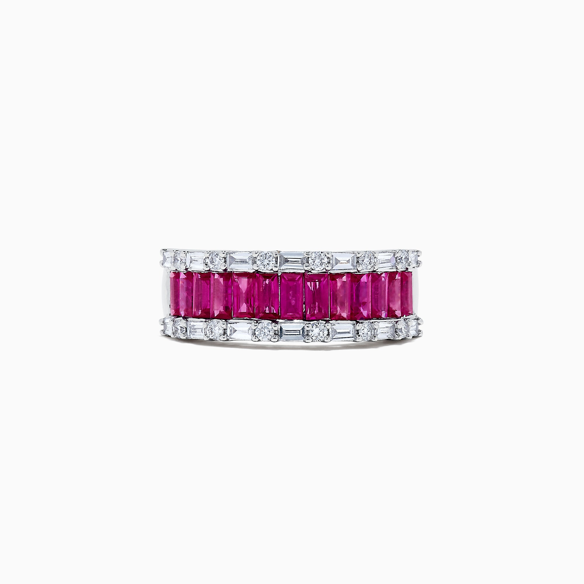 Effy Ruby Royale 14K White Gold Ruby and Diamond Ring, 2.38