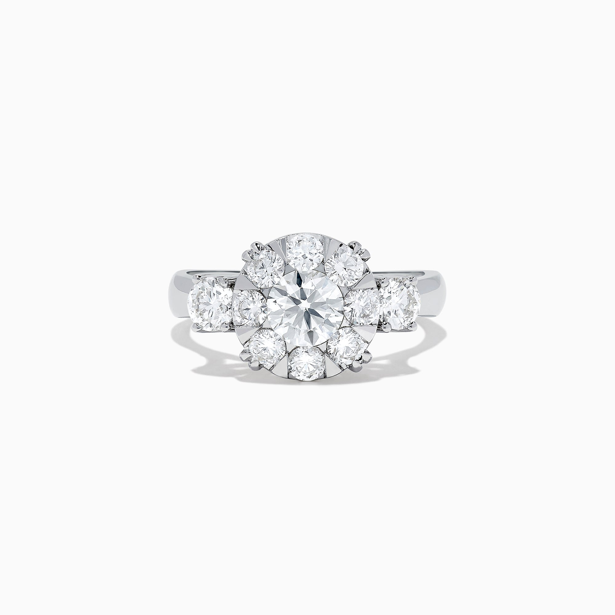 Effy Bouquet 14K White Gold Diamond Cluster Ring, 1.91 TCW