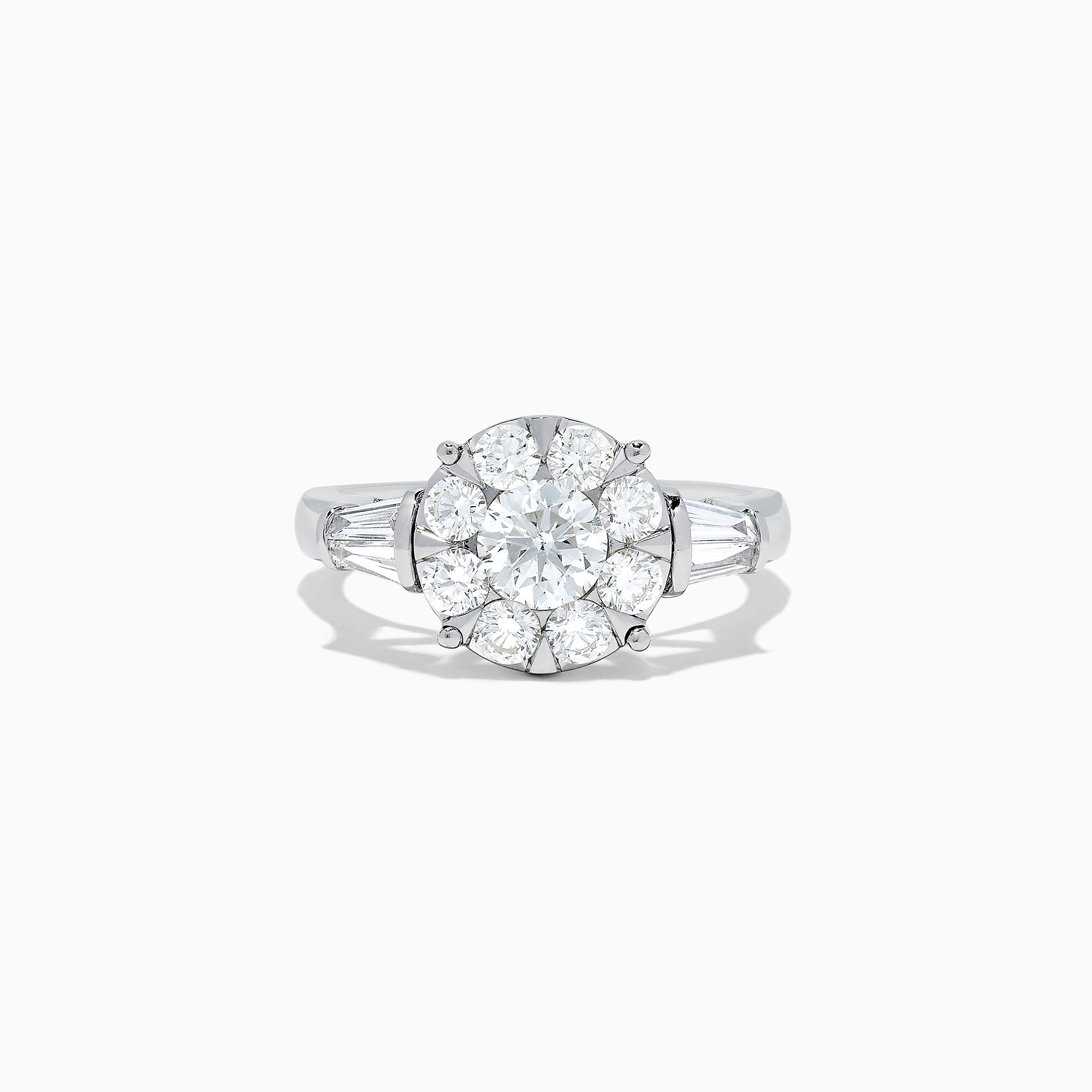 Effy Bouquet 14K White Gold Diamond Cluster Ring, 1.71 TCW