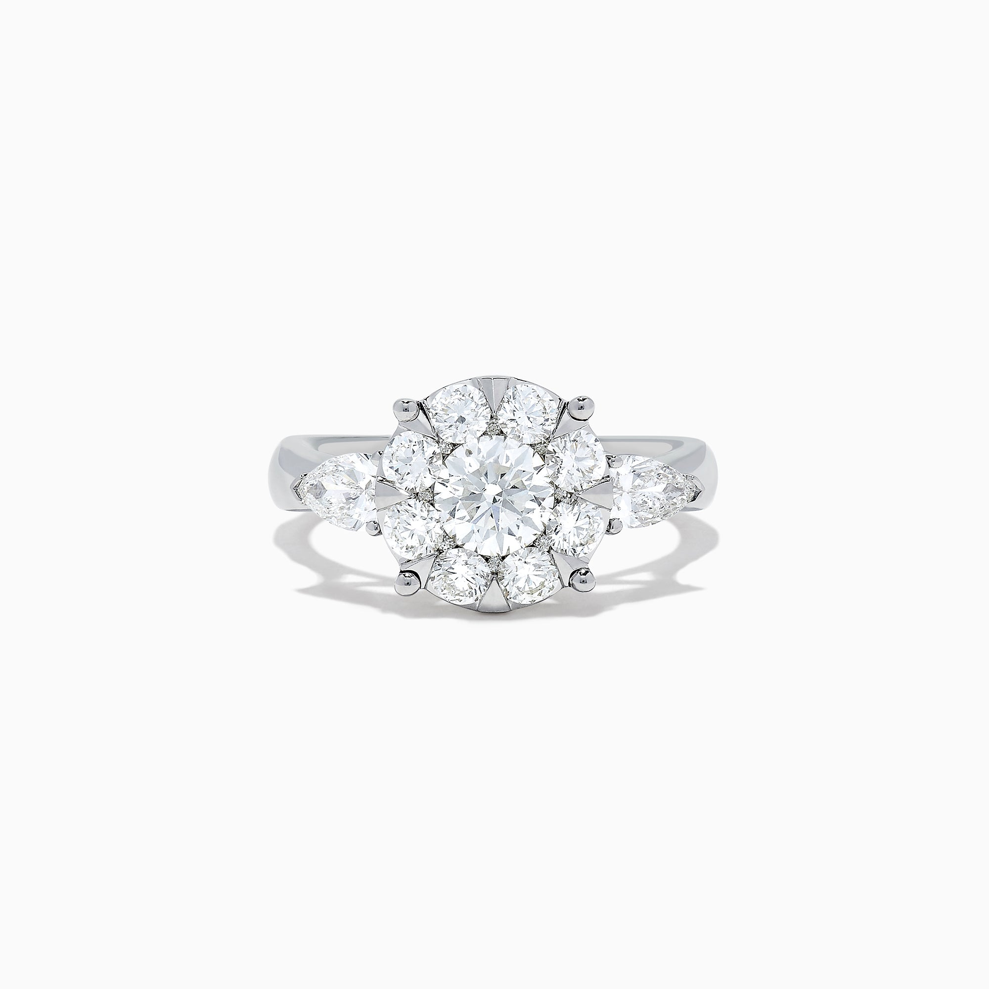 Effy Bouquet 14K White Gold Diamond Cluster Ring, 1.90 TCW
