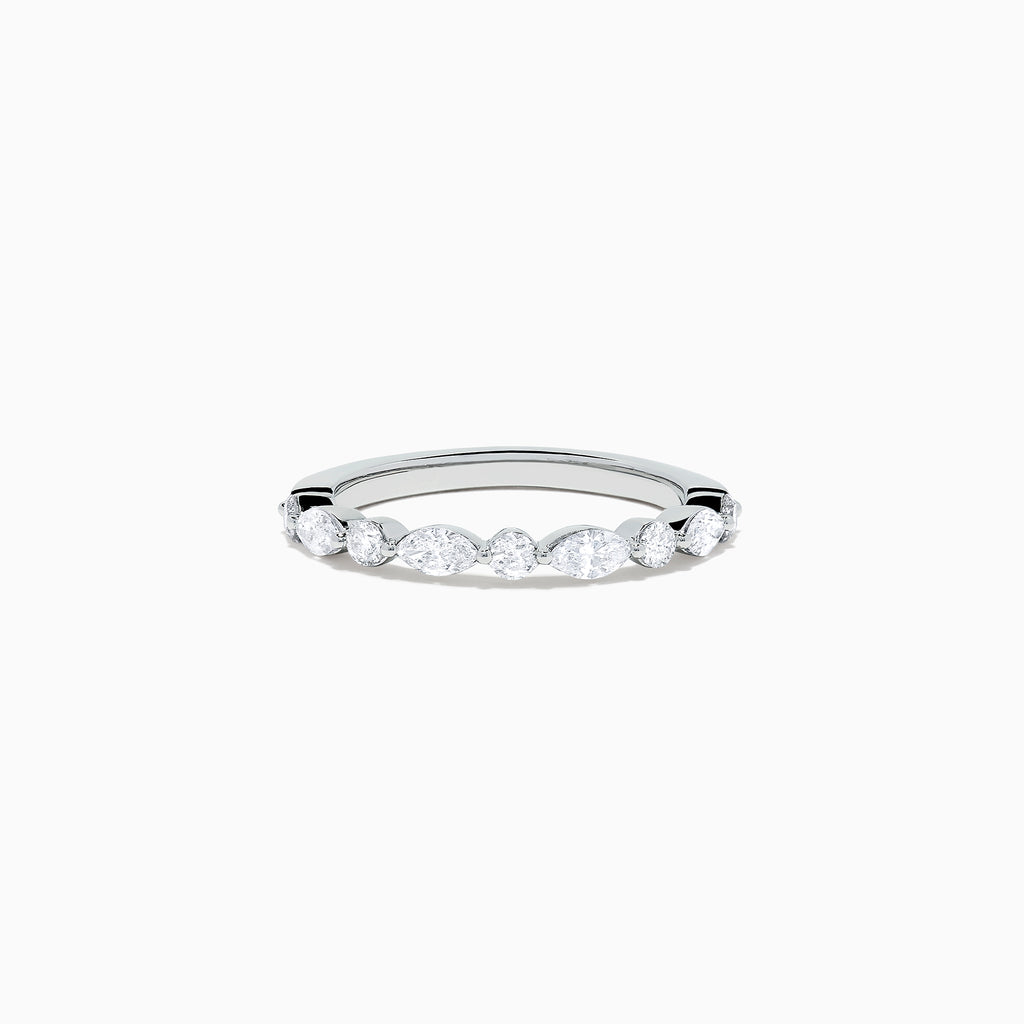 Effy Pave Classica 14K White Gold Diamond Ring, 0.59 TCW