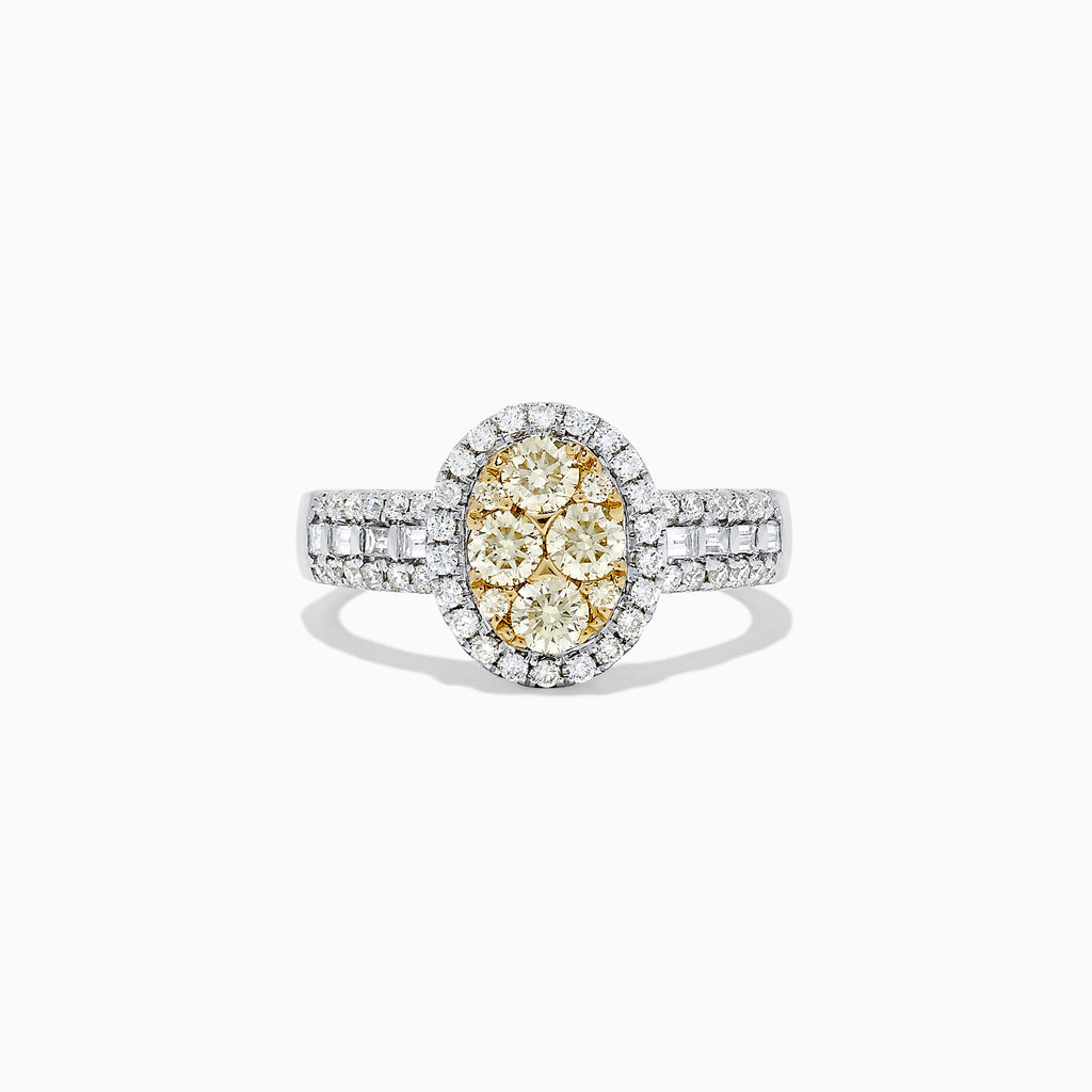 Effy Canare 14K Two Tone Gold Yellow and White Diamond Ring, 1.00 TCW