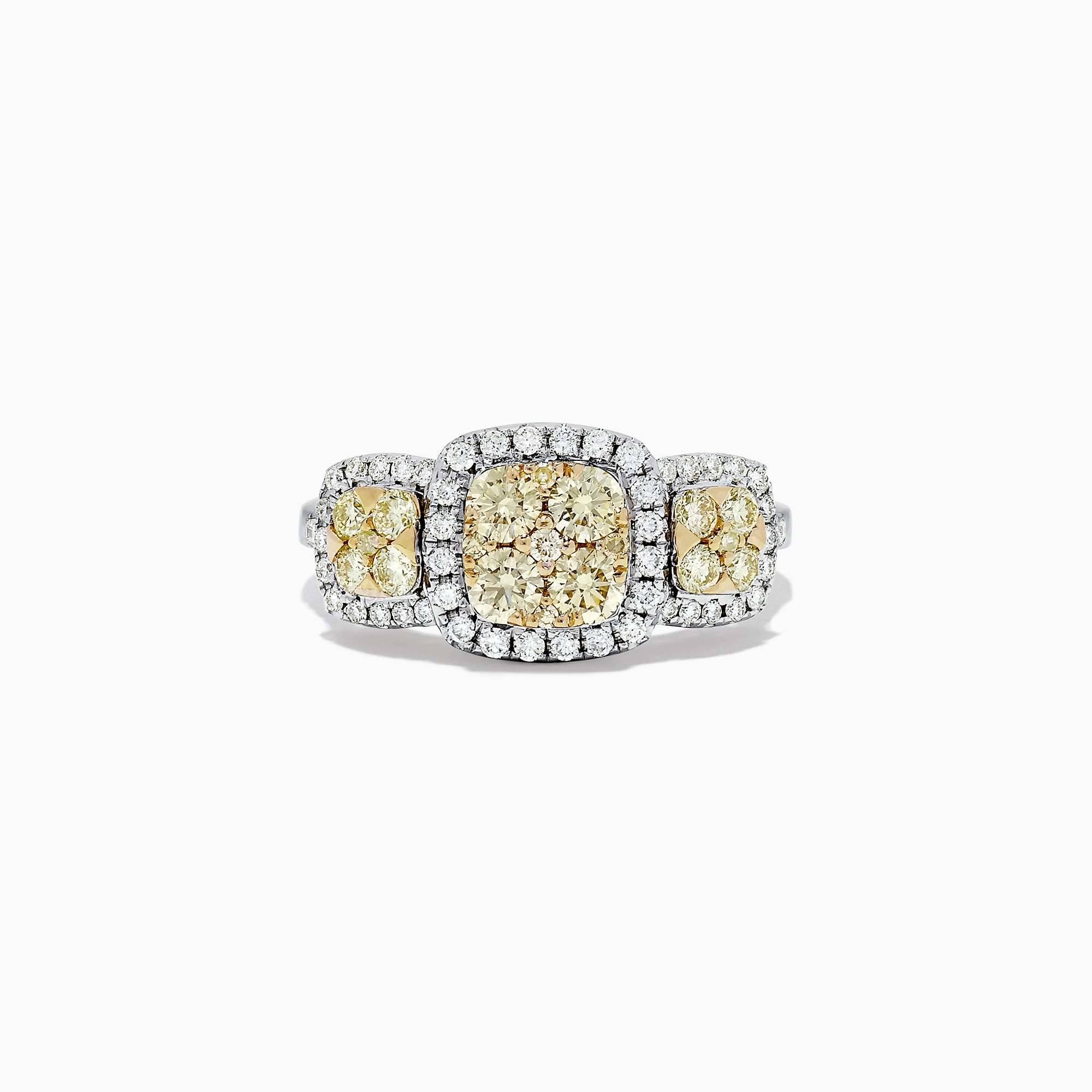 Effy Canare 14K Two Tone Gold Yellow and White Diamond Ring, 1.10 TCW