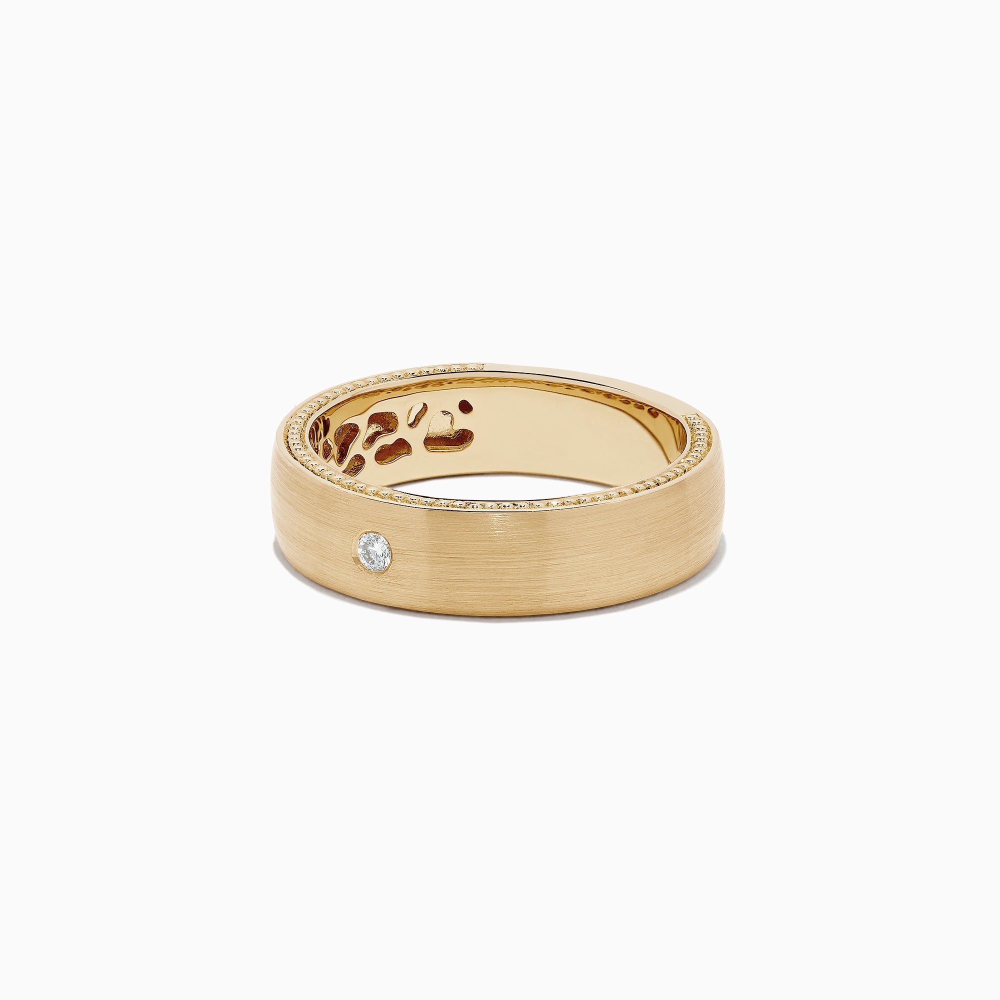 Effy Men's 14K Yellow Gold Diamond Accented Ring, 0.05 TCW