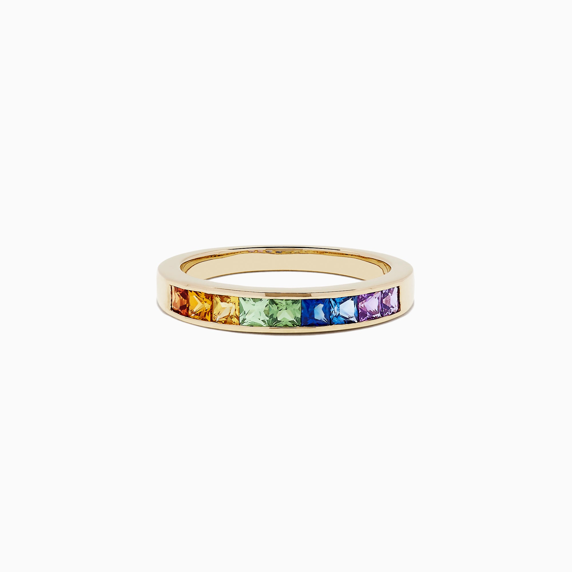 Effy Watercolors 14K Yellow Gold Channel Set Multi Sapphire Ring, 0.86 TCW