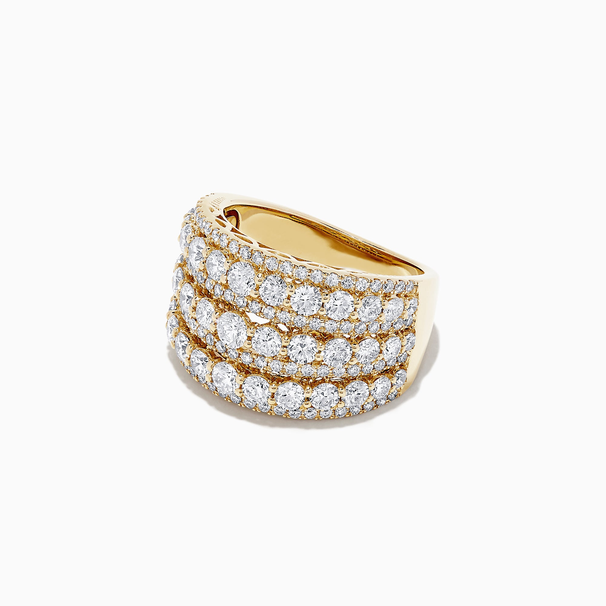 Effy D'Oro 14K Yellow Gold Diamond Wide Band Ring, 2.92 TCW