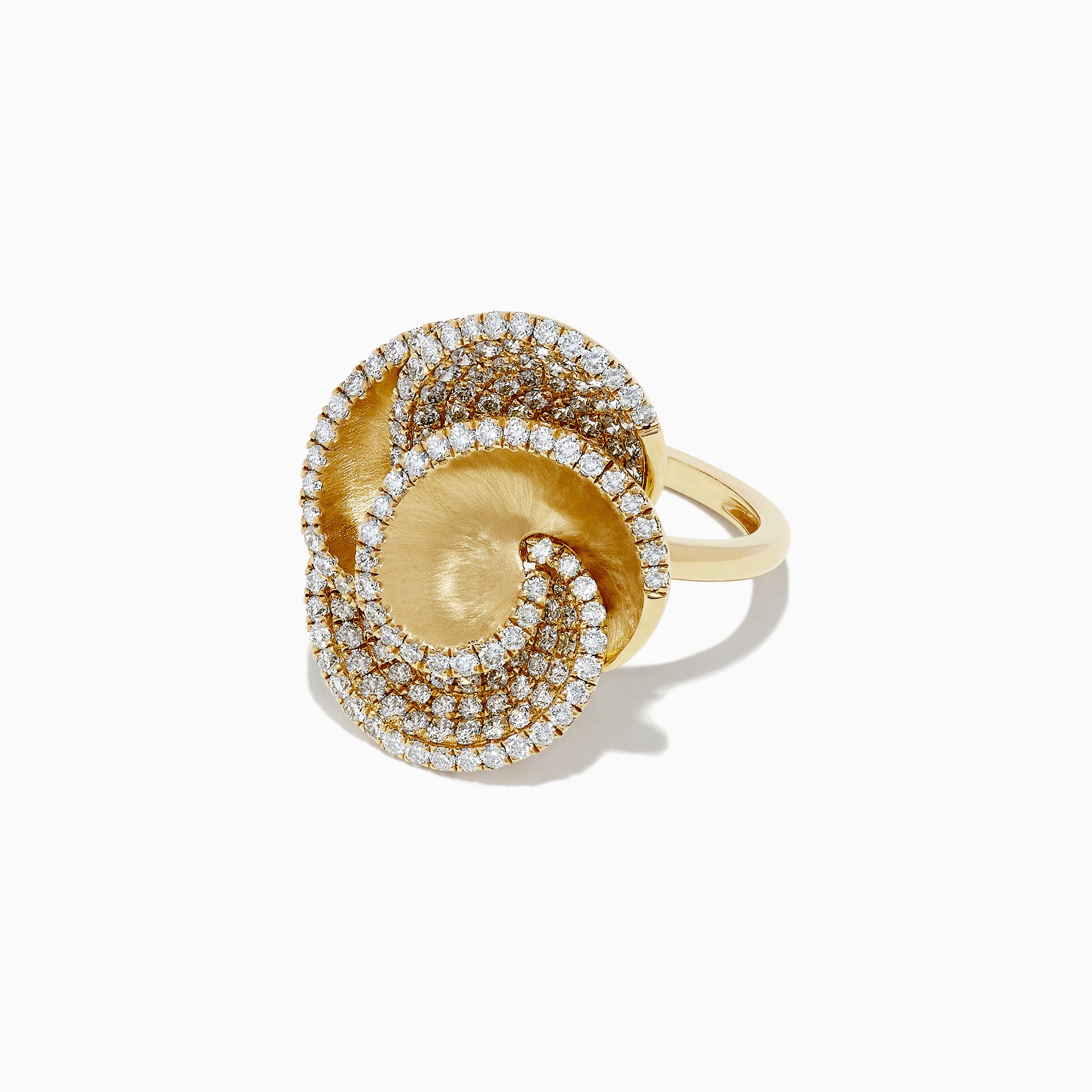 Effy D'Oro 14K Yellow Gold Diamond Flower Ring, 1.61 TCW