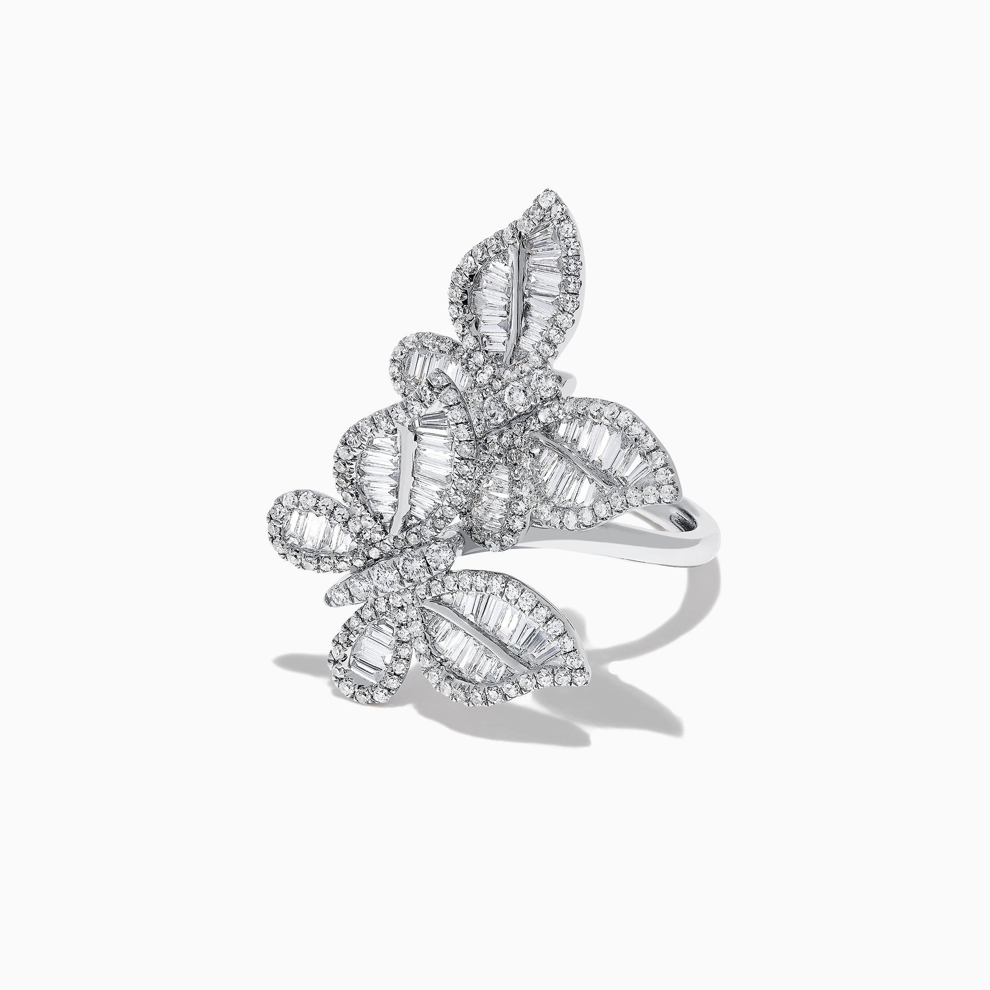 Effy Nature 14K White Gold Diamond Butterfly Ring, 1.41 TCW