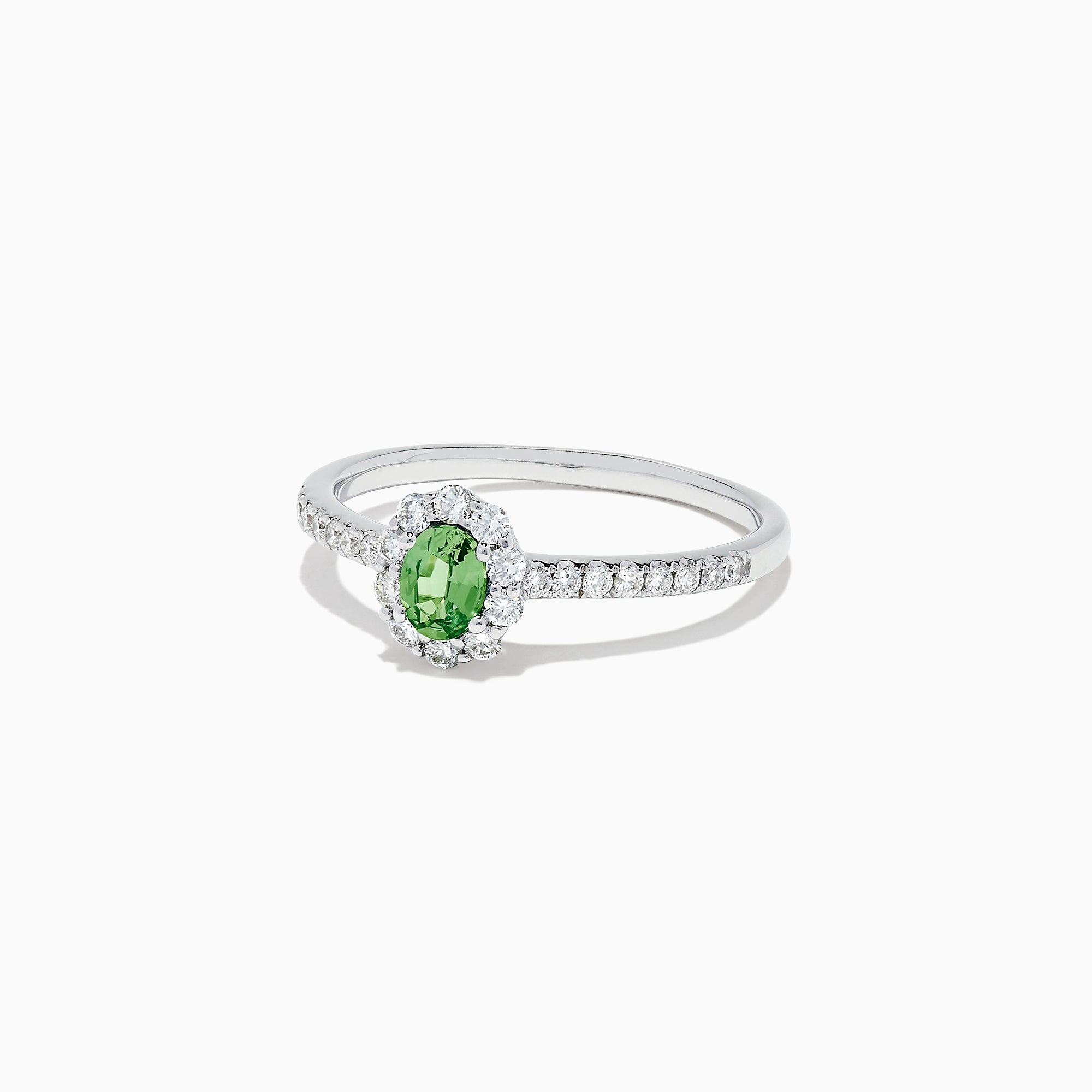 Effy 14K White Gold Alexandrite and Diamond Ring, 0.59 TCW