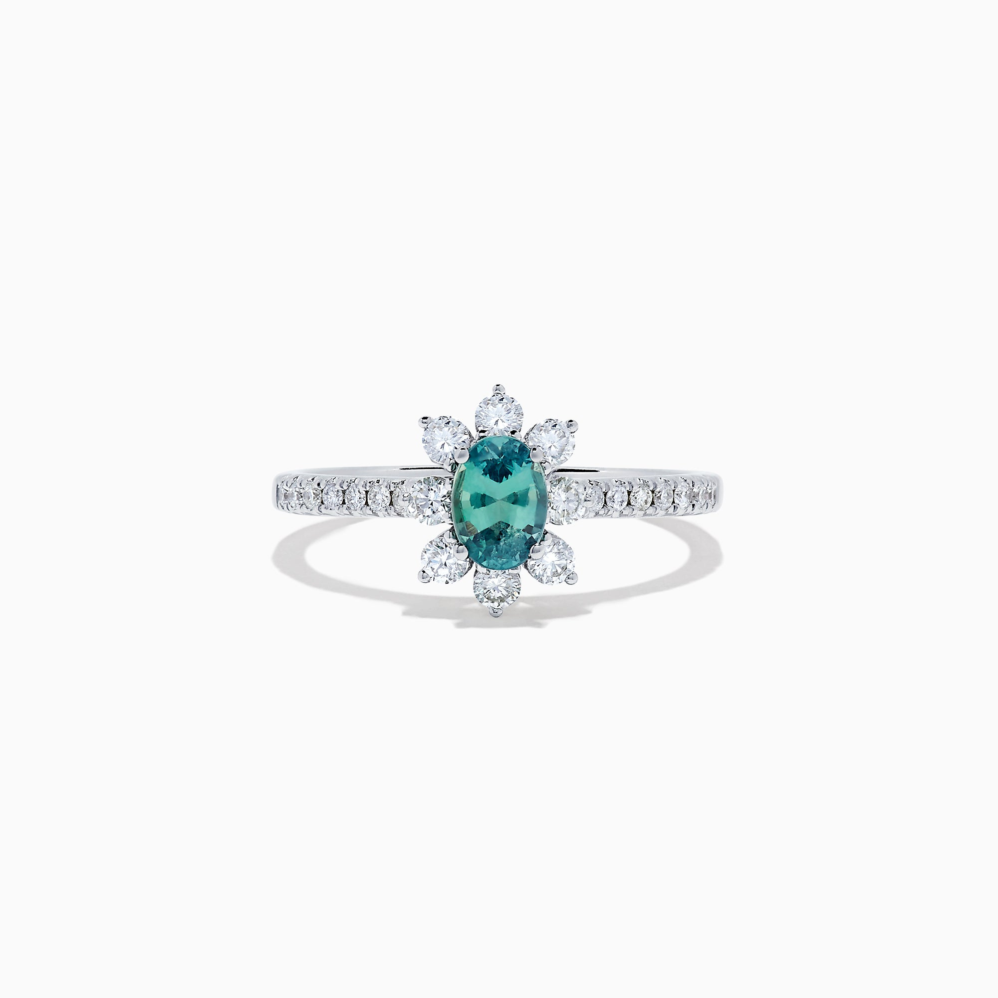 Effy 14K White Gold Alexandrite and Diamond Ring, 0.85 TCW