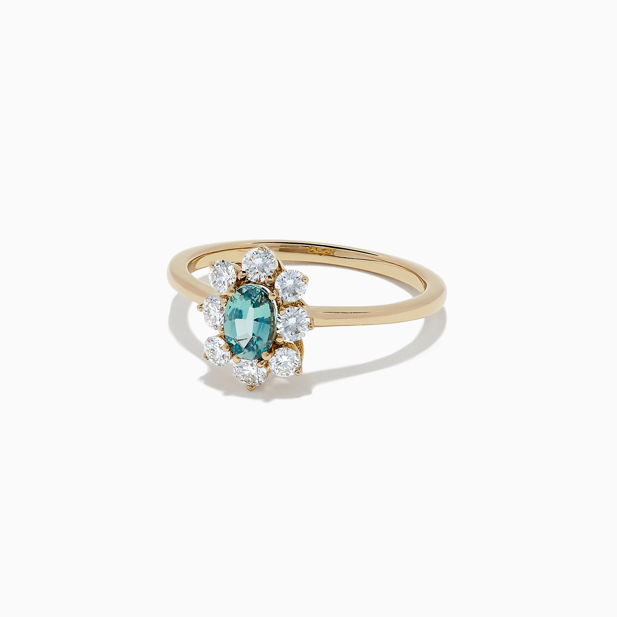 Effy 14K Yellow Gold Alexandrite and Diamond Ring, 0.84 TCW