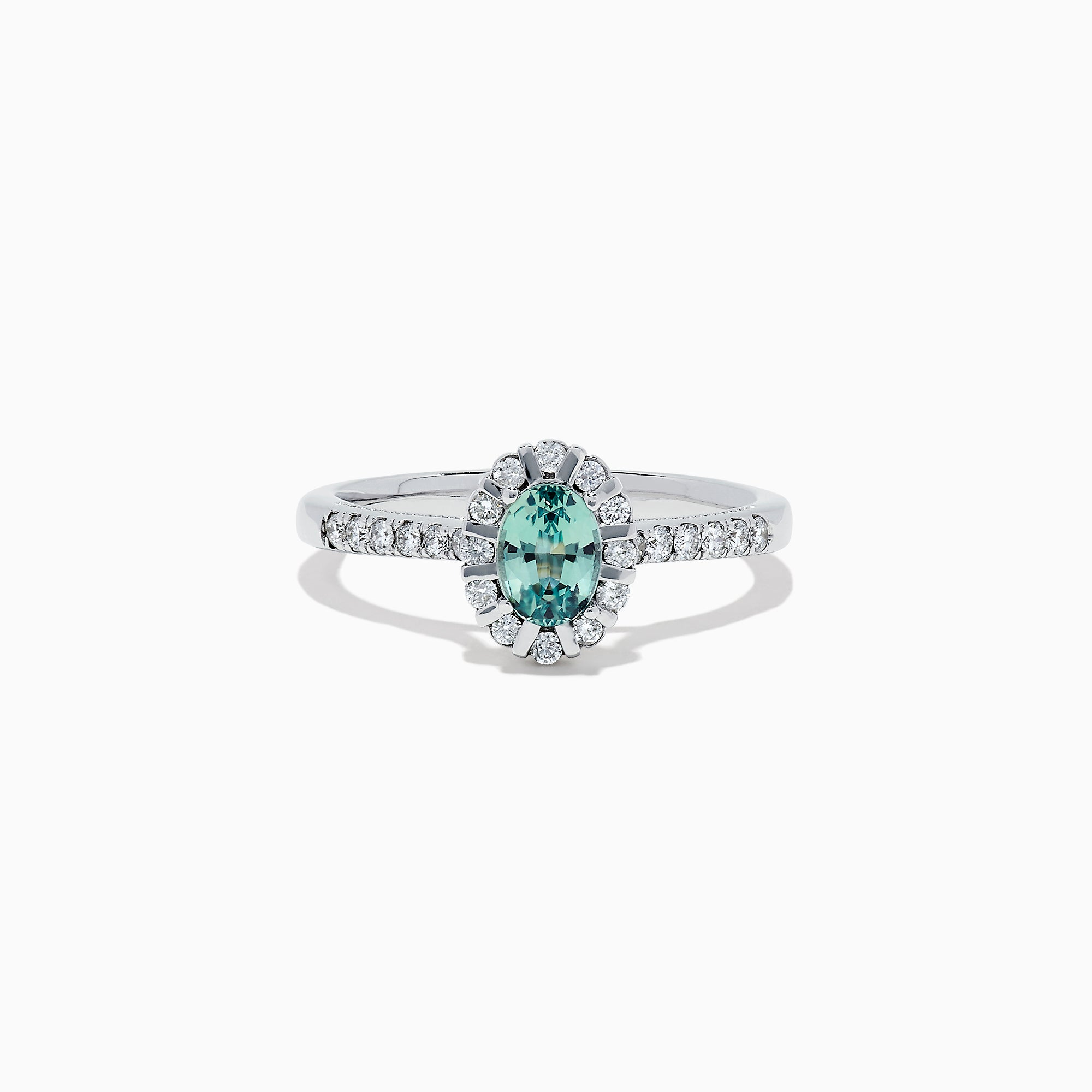 Effy 14K White Gold Alexandrite and Diamond Ring, 0.83 TCW