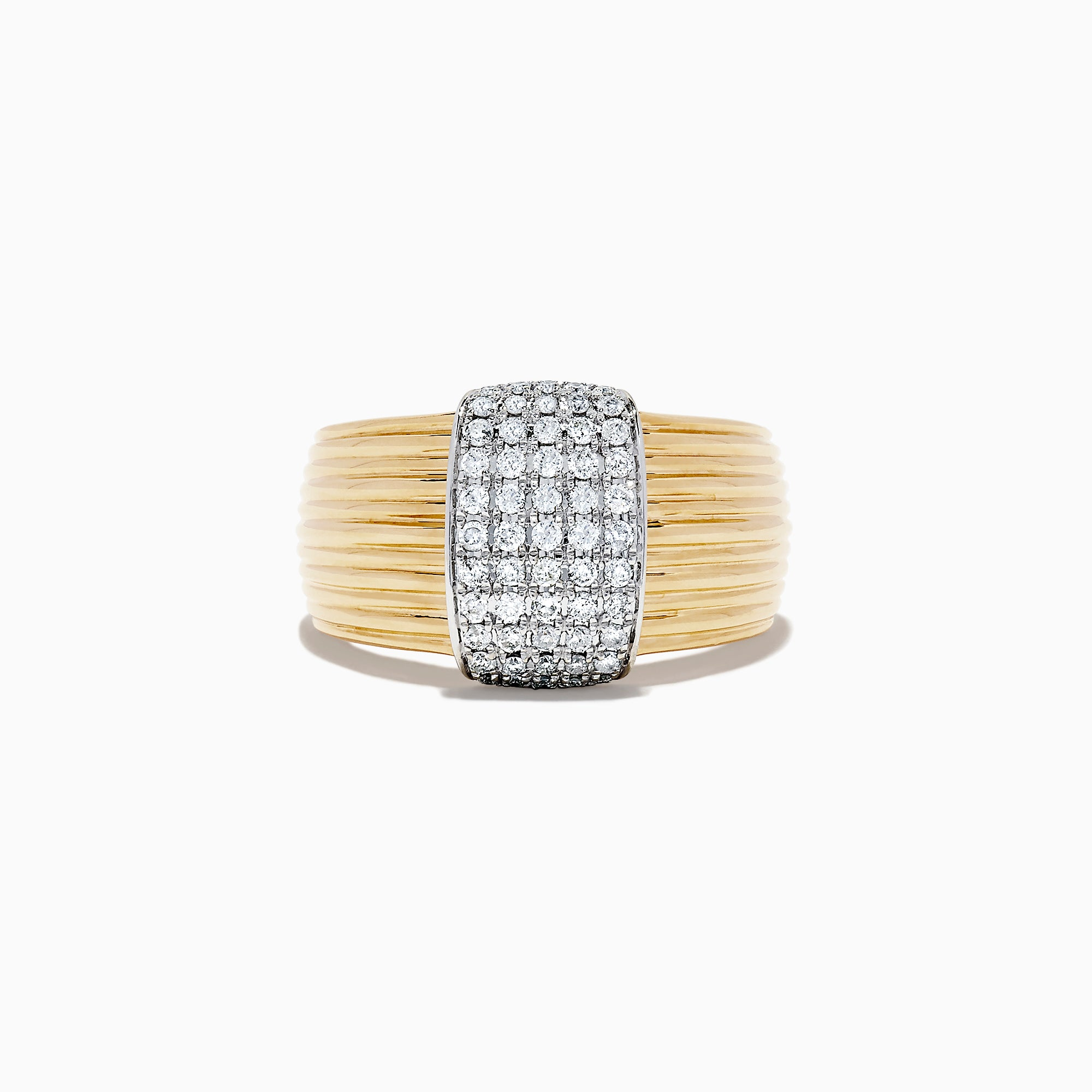 Effy 14K Two Tone Gold Diamond Ring, 0.42 TCW