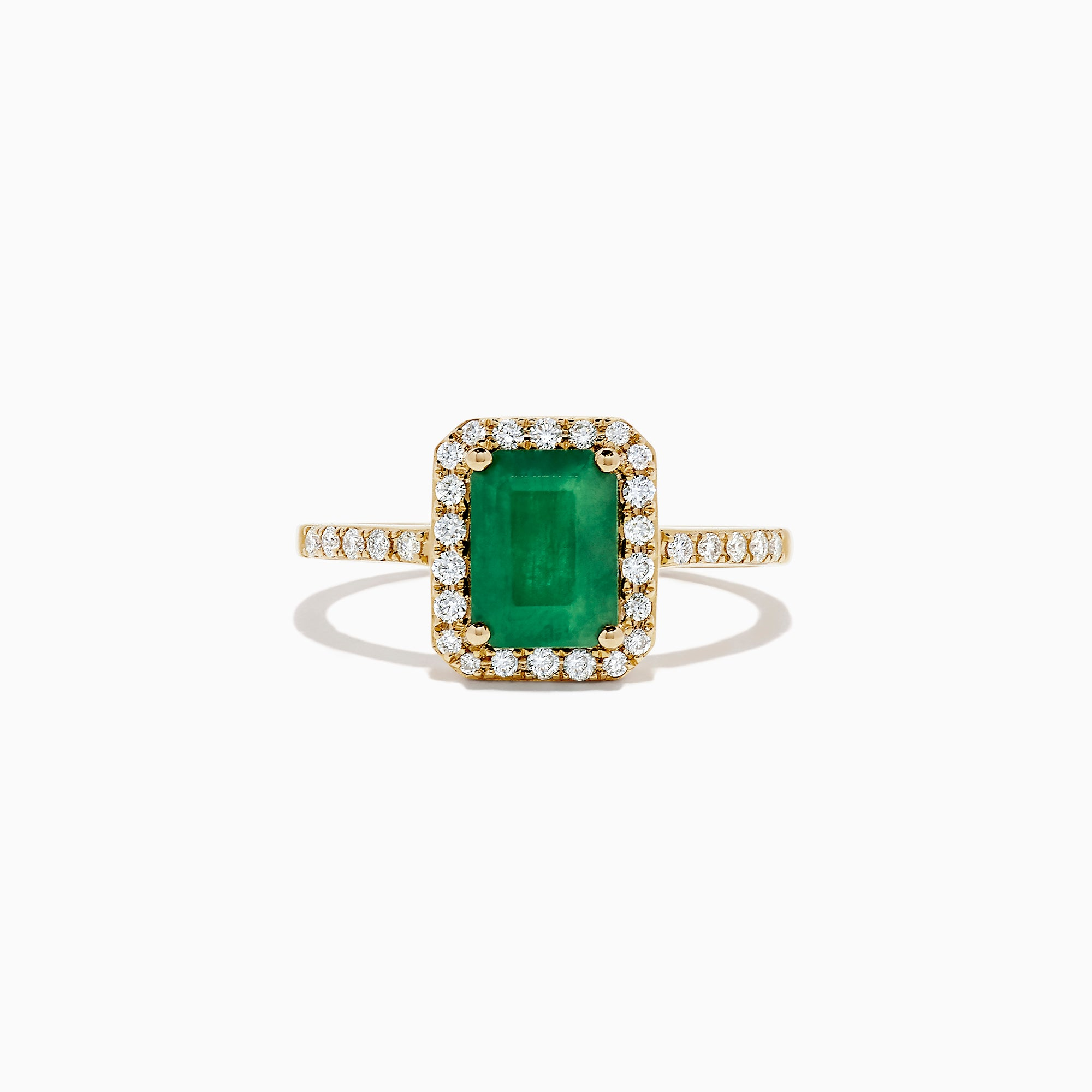 Effy Brasilica 14K Yellow Gold Emerald and Diamond Ring, 1.69 TCW