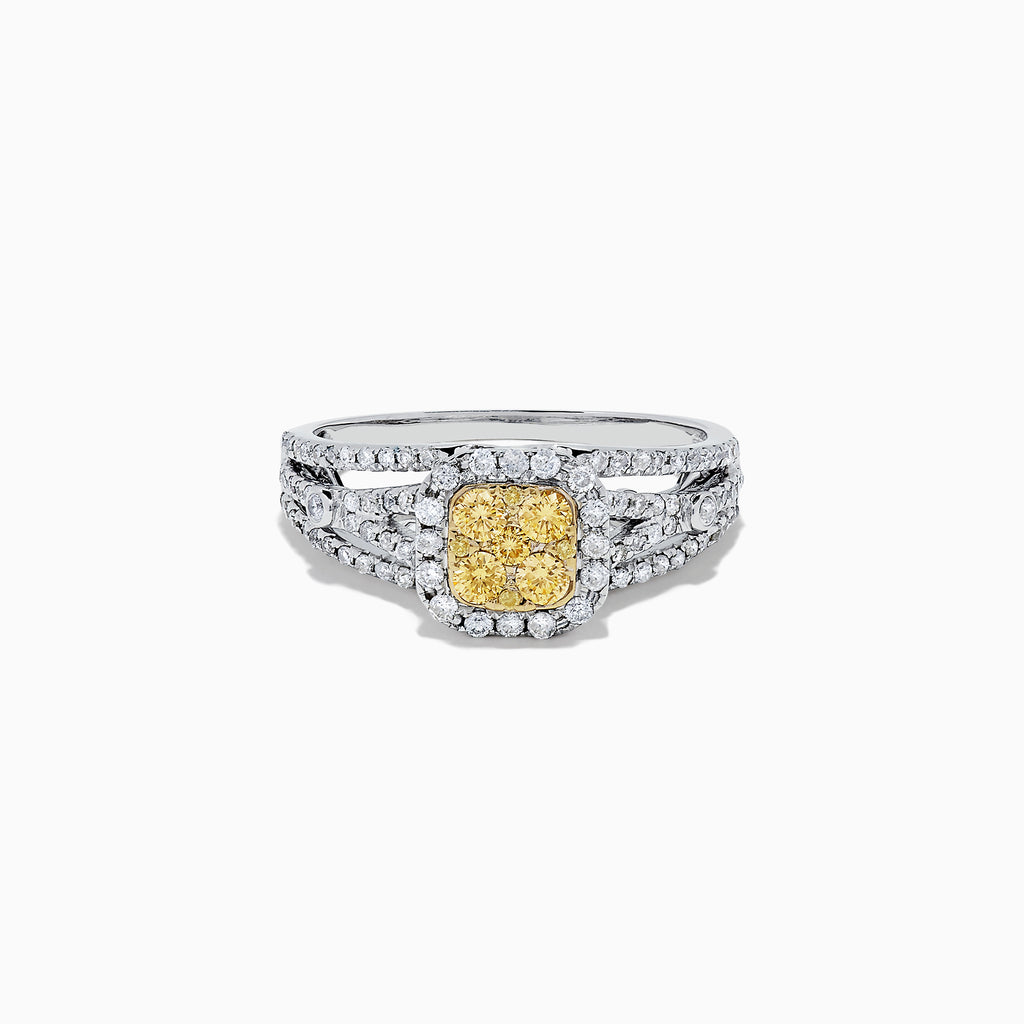Effy Canare 14K Two Tone Gold Yellow and White Diamond Ring, 0.72 TCW