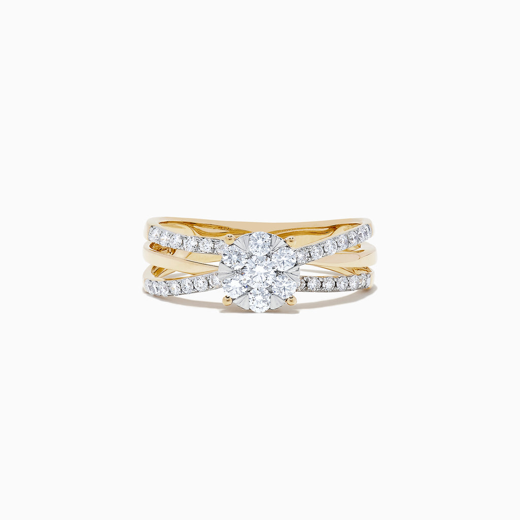 Effy Bouquet 14K Yellow Gold Diamond Cluster Ring, 0.39 TCW