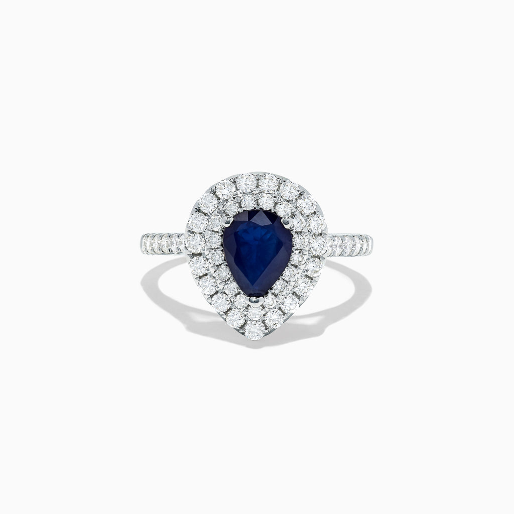 Effy Royale Bleu 14K White Gold Sapphire and Diamond Ring, 1.90 TCW