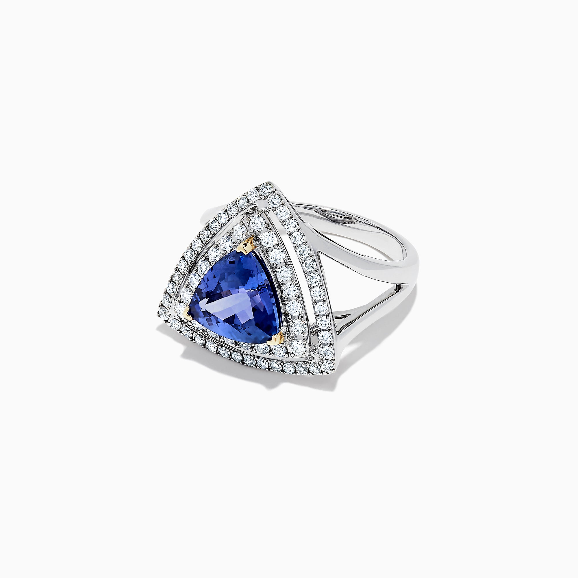 Effy Tanzanite Royale 14K Gold Trillion Tanzanite & Diamond Ring, 2.54 TCW