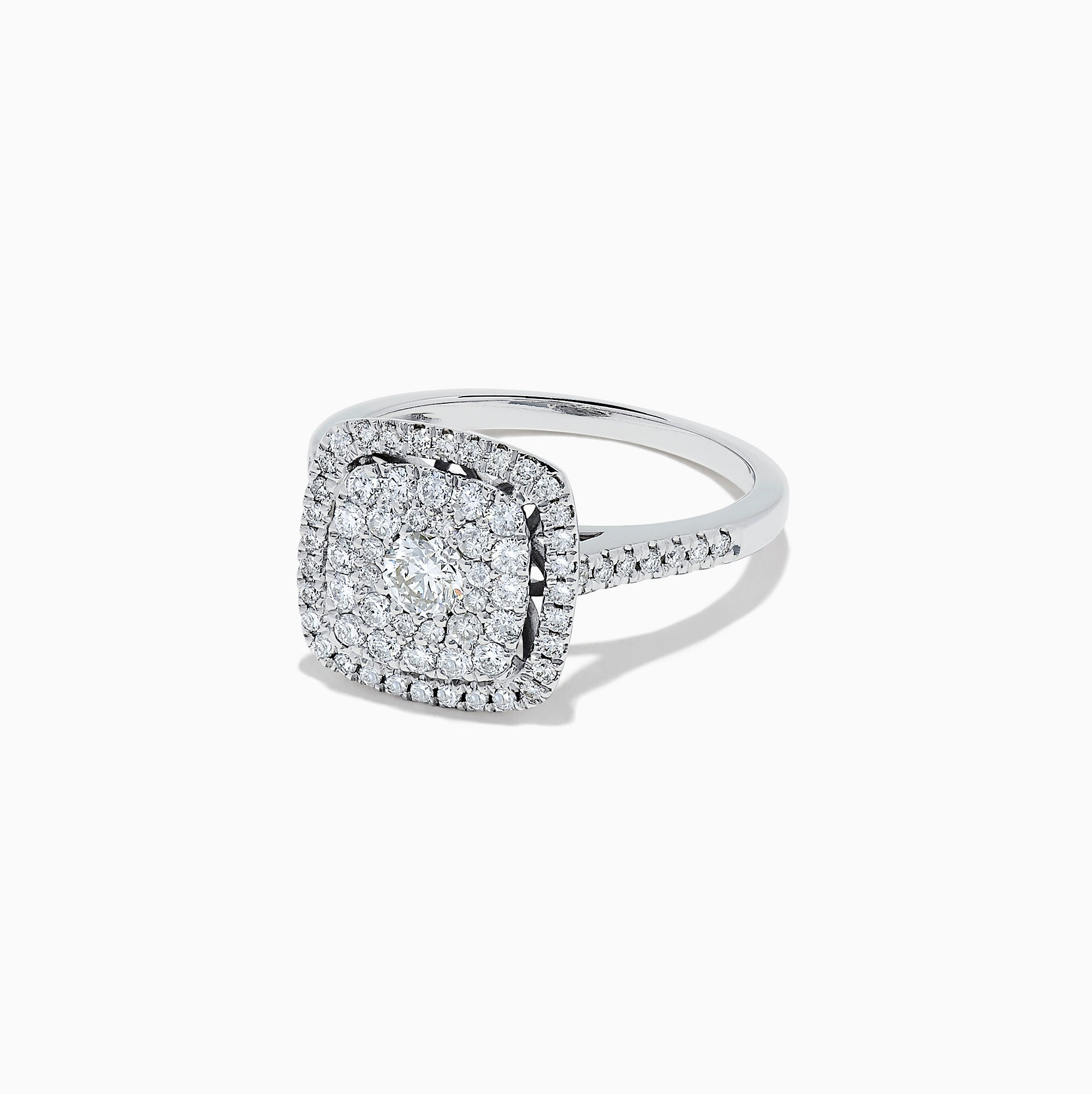 Effy Pave Classica 14K White Gold Diamond Ring, 0.83