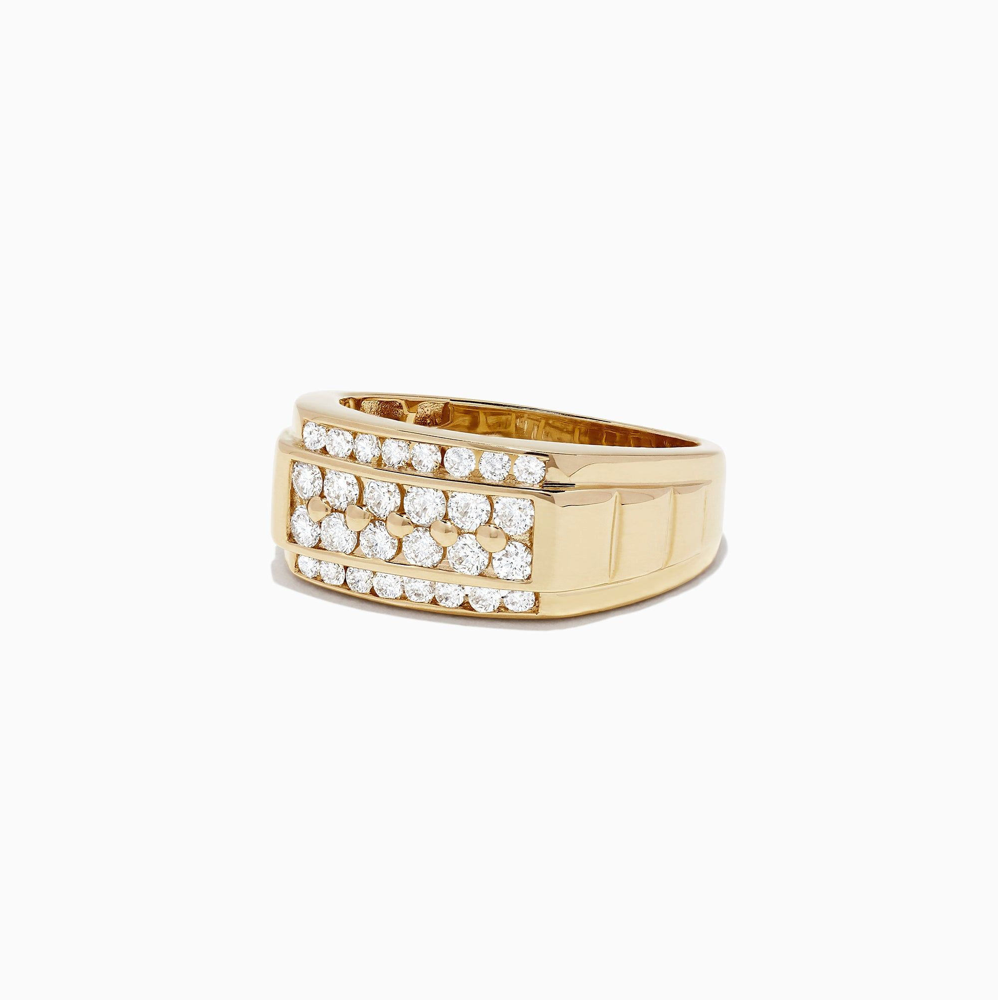 Effy Men's 14K Yellow Gold Diamond Ring, 0.96 TCW