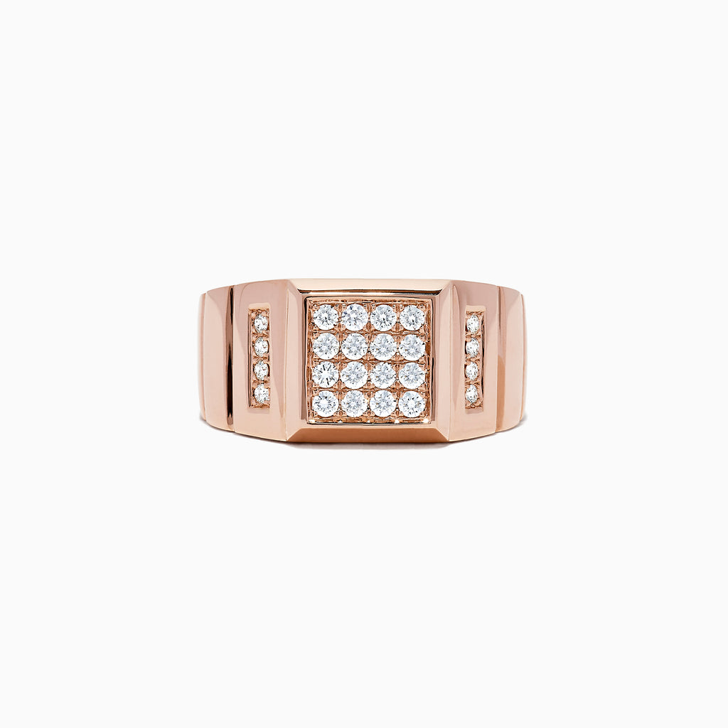 Effy Men's 14K Rose Gold Diamond Ring, 0.51 TCW