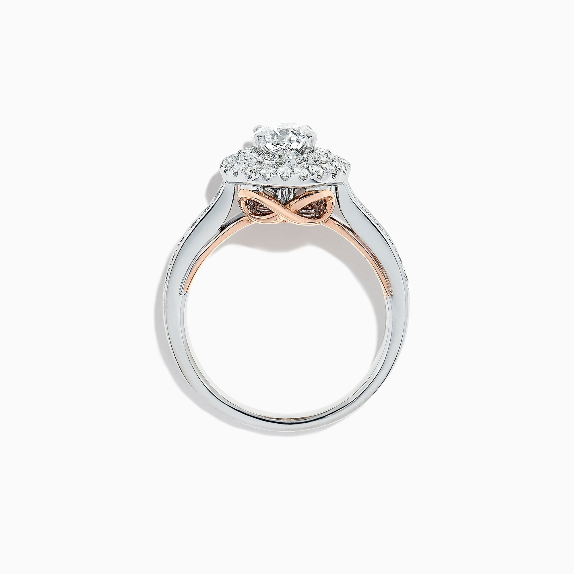 Effy Bridal 18K Two Tone Gold Diamond Ring, 1.24 TCW
