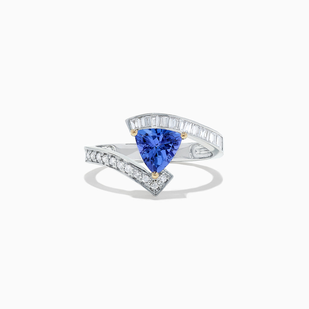 Effy 14K White Gold Tanzanite and Diamond Ring, 1.76 TCW