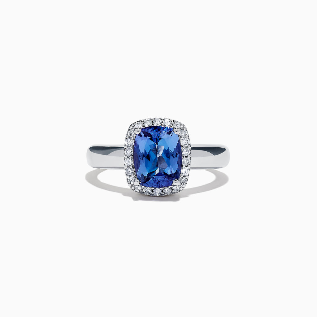 Effy Tanzanite Royale Sterling Silver Tanzanite and Diamond Ring, 2.09 TCW
