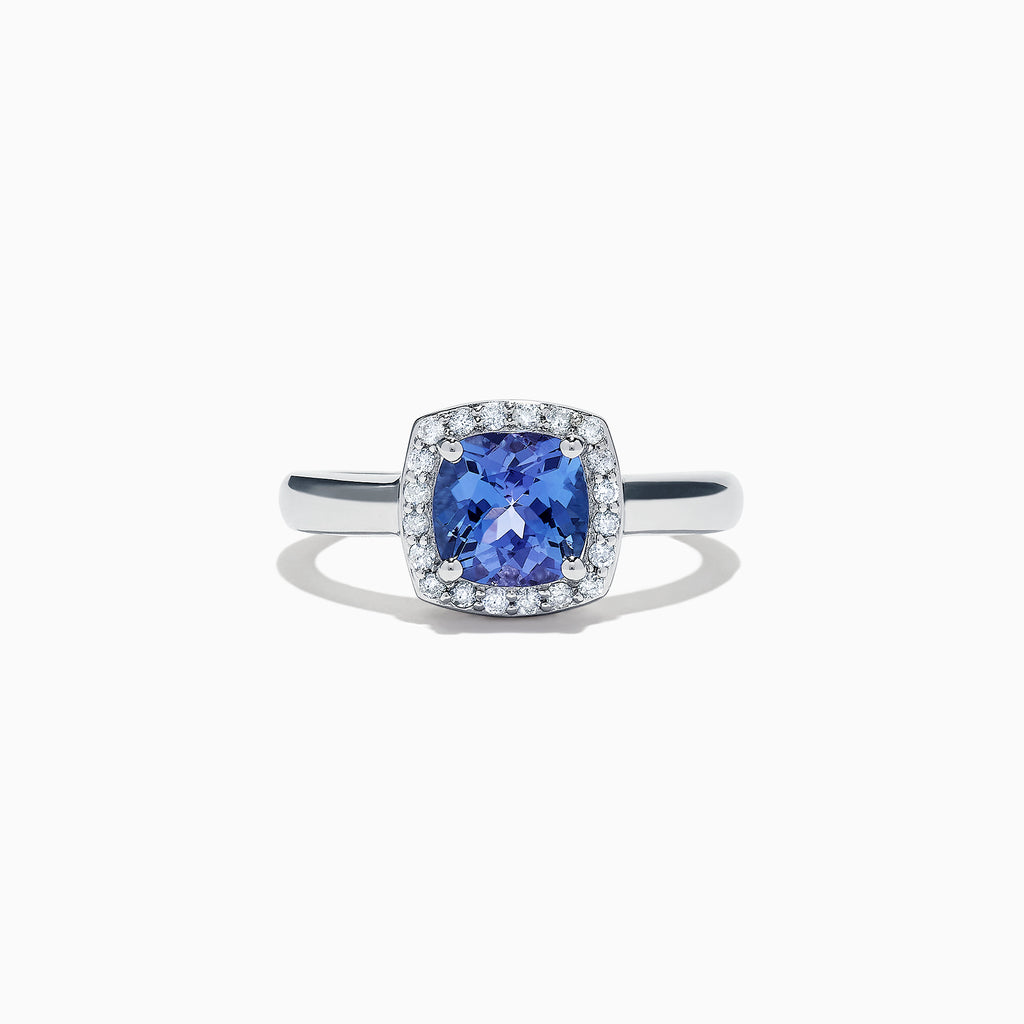 Effy Tanzanite Royale Sterling Silver Tanzanite and Diamond Ring, 1.81 TCW