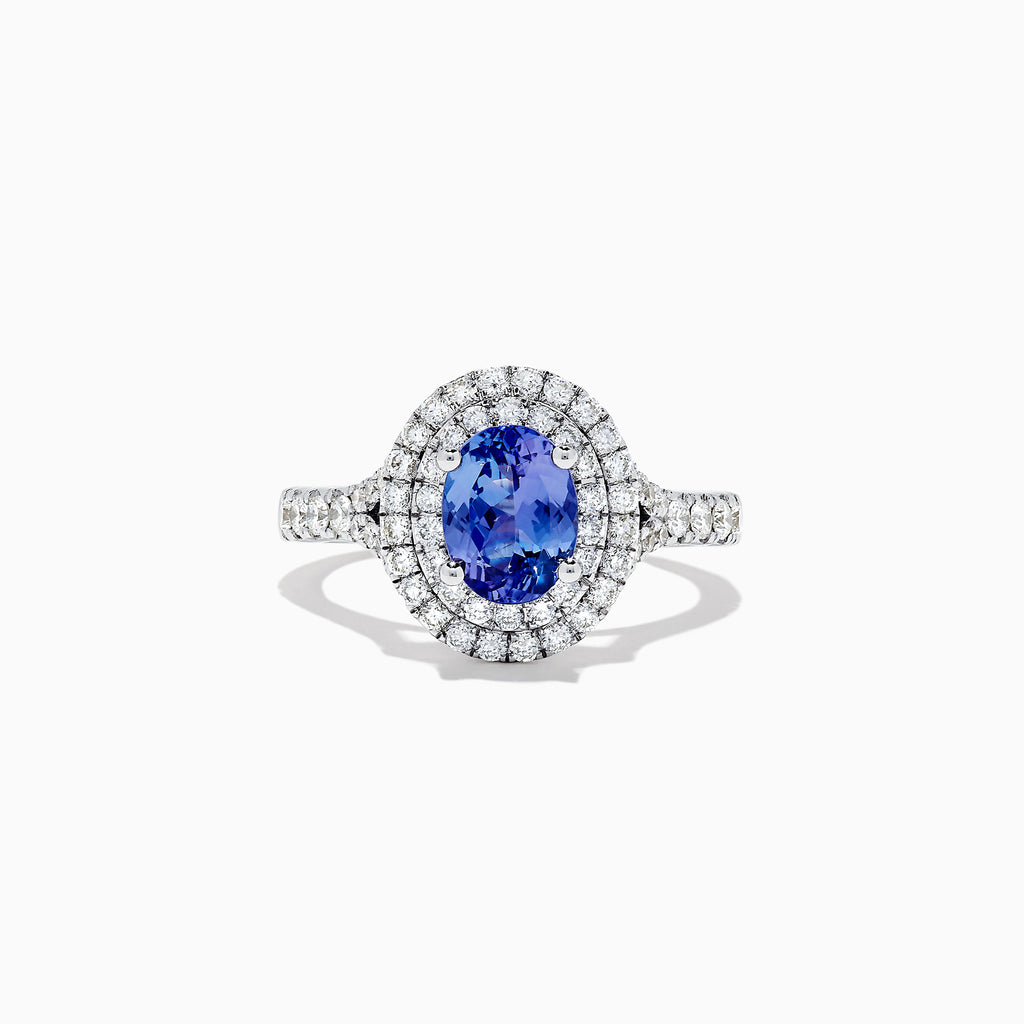 Effy Tanzanite Royale 14K White Gold Tanzanite and Diamond Ring, 1.91 TCW