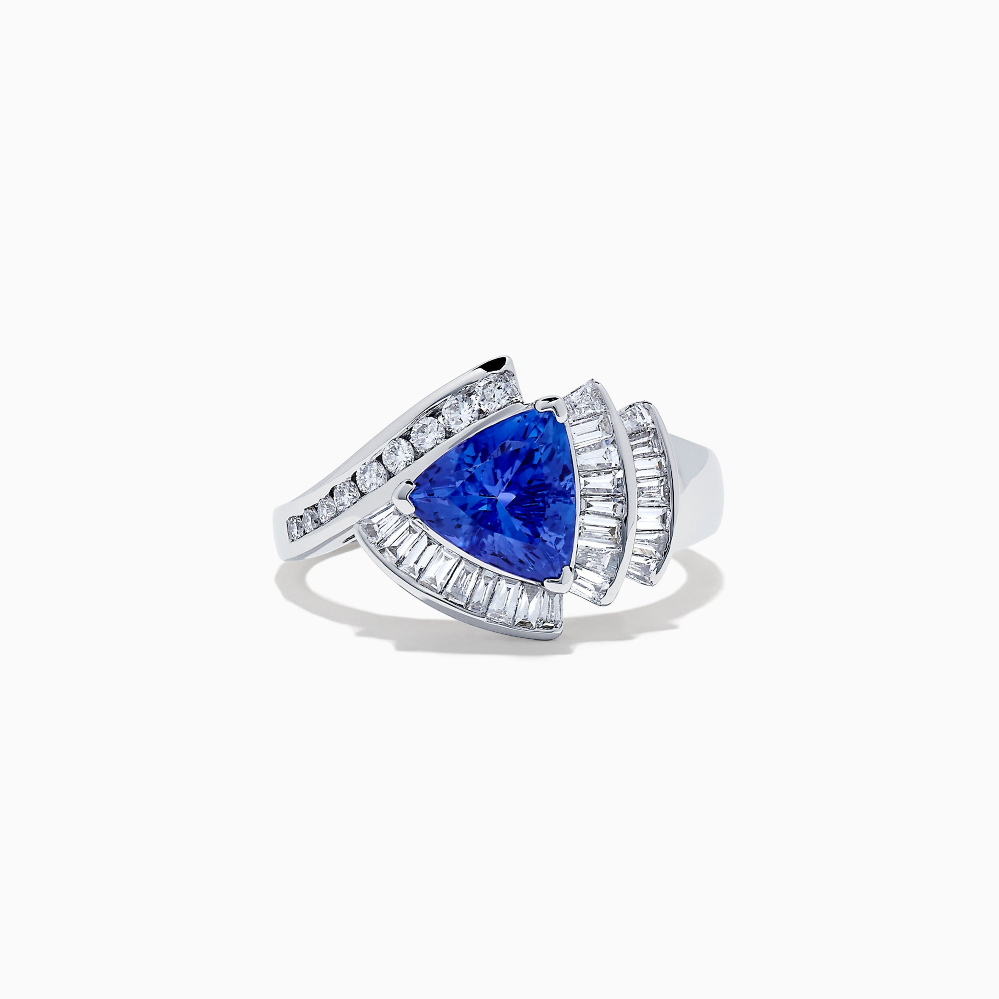 Effy Tanzanite Royale 14K White Gold Tanzanite and Diamond Ring, 2.10 TCW