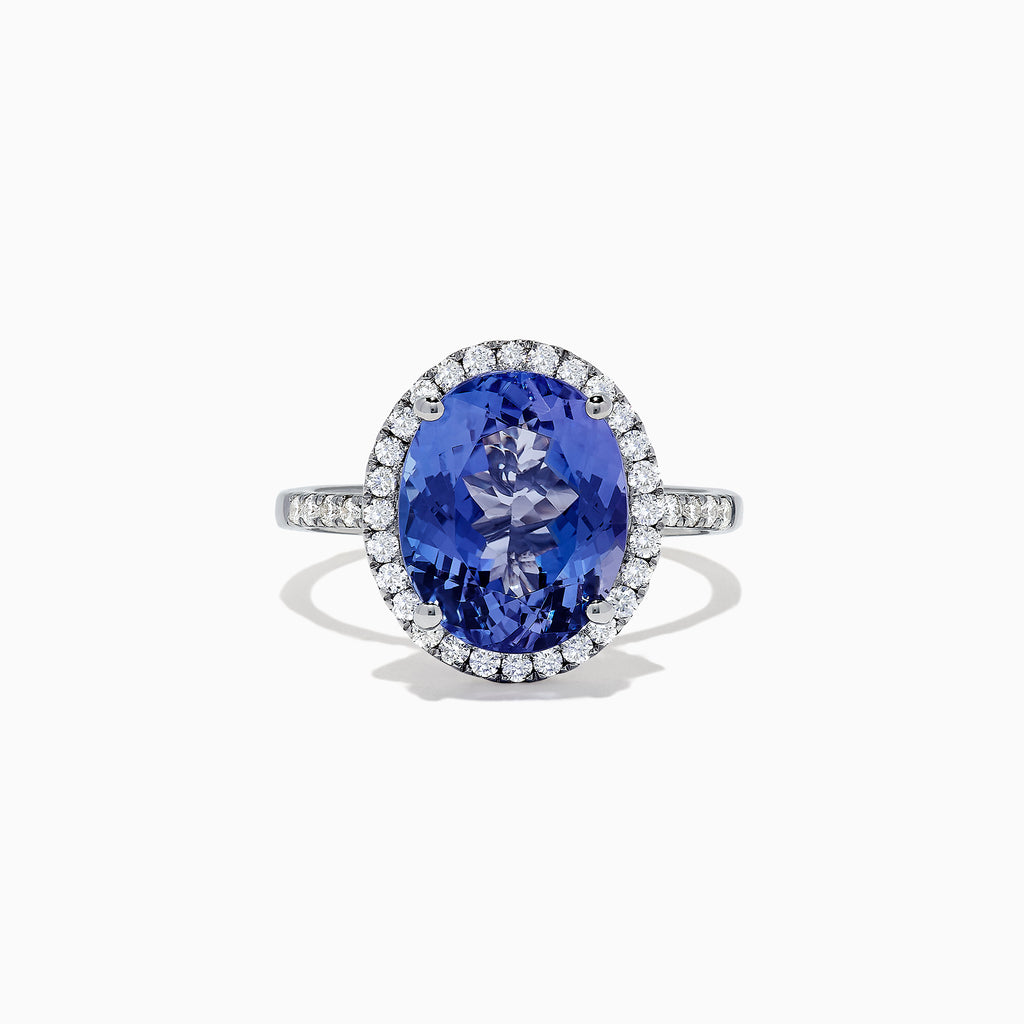 Effy Tanzanite Royale 14K White Gold Tanzanite and Diamond Ring, 5.14 TCW