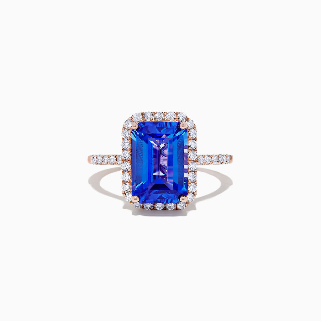 Effy Tanzanite Royale 14K Rose Gold Tanzanite & Diamond Ring, 5.70 TCW