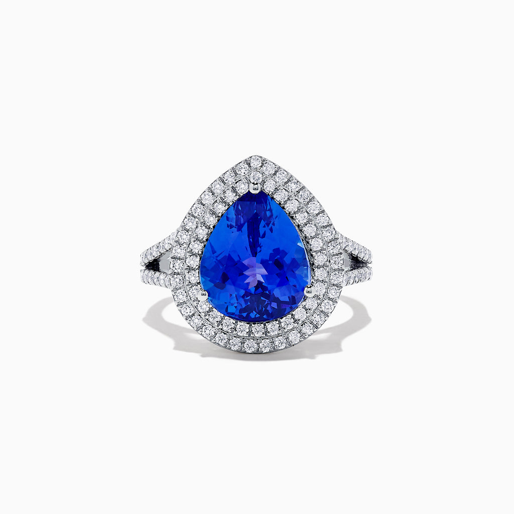Effy Tanzanite Royale 14K White Gold Tanzanite and Diamond Ring, 5.02 TCW
